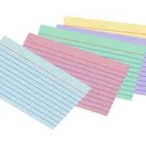 index cards.13